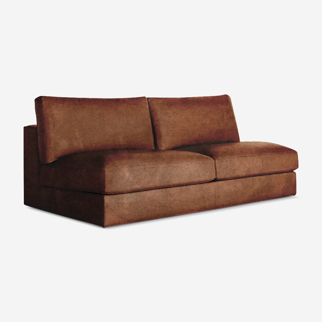Deluca 2 Seater Armless