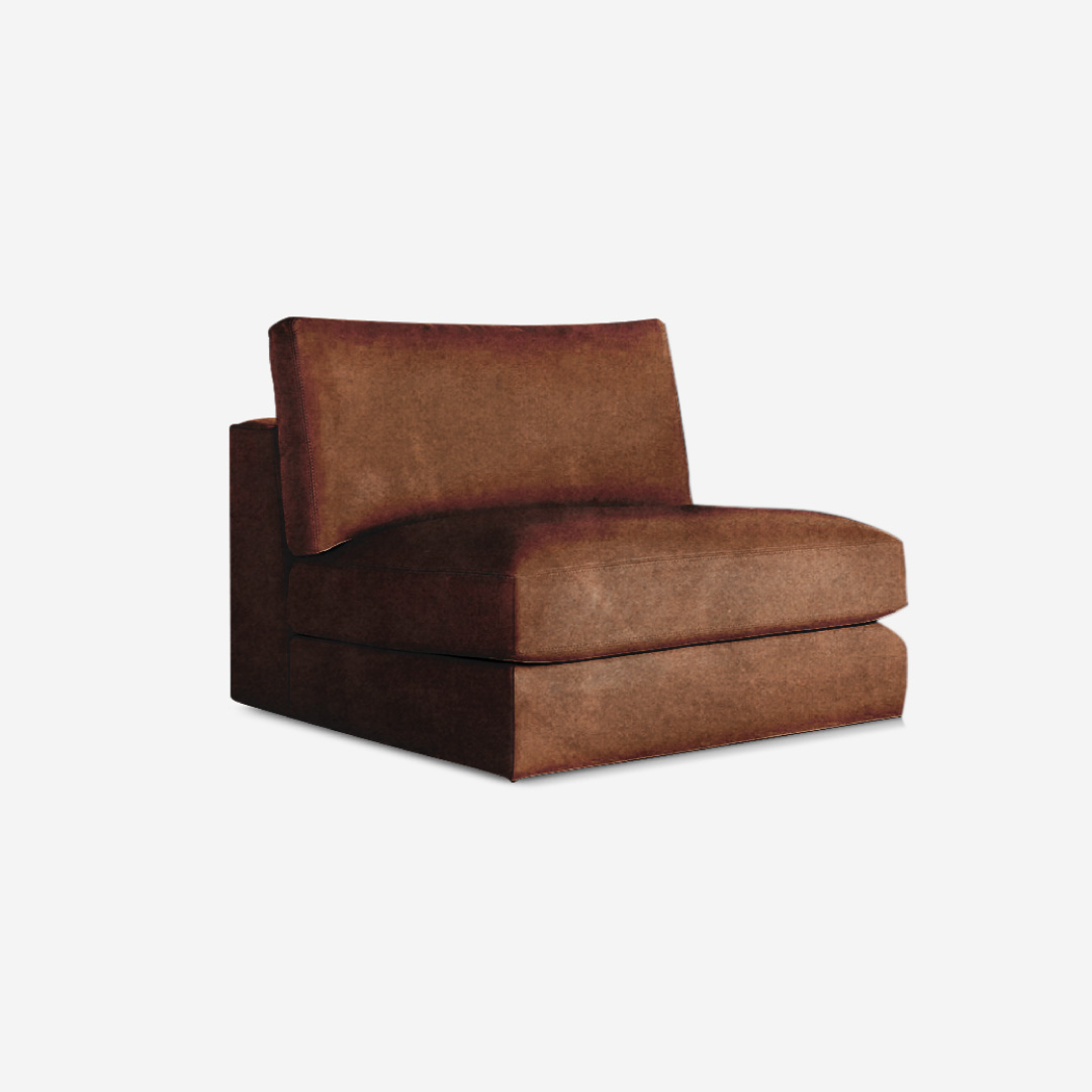 Deluca 1 Seater Armless Sofa